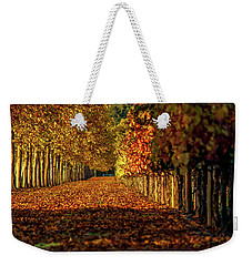 Weekender Tote Bag featuring the pyrography Autumn In Napa Valley by Bill Gallagher