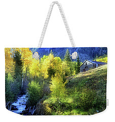 Weekender Tote Bag featuring the photograph Autumn In Ophir - Colorado - Aspens by Jason Politte