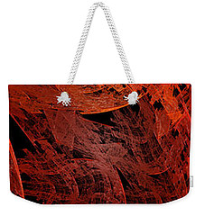 Weekender Tote Bag featuring the digital art Autumn In Space Abstract Pano 2 by Andee Design