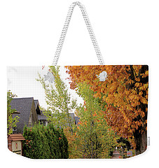 Autumn In The City Weekender Tote Bag
