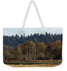 Weekender Tote Bag featuring the photograph Autumn In The Nisqually Estuary  by I'ina Van Lawick