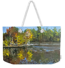 Autumn In The Rock Quarry Weekender Tote Bag by Jim Phillips