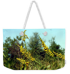 Autumn In The Wind Weekender Tote Bag by Debra Forand
