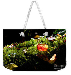Autumn Jewels For A Mossy Log Weekender Tote Bag