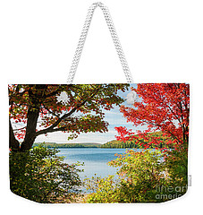 Weekender Tote Bag featuring the photograph Autumn Lake by Elena Elisseeva