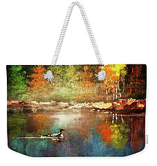 Autumn Lake Reflections Weekender Tote Bag
