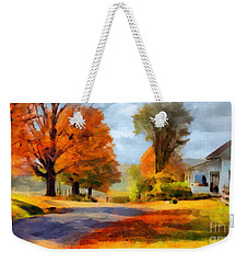 Autumn Landscape Weekender Tote Bag by Sergey Lukashin
