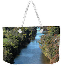 Autumn Landscape With Tye River In Nelson County, Virginia Weekender Tote Bag