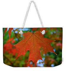 Autumn Leaf In The Rain Weekender Tote Bag