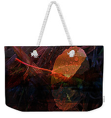 Weekender Tote Bag featuring the digital art Autumn Leaf by Stuart Turnbull