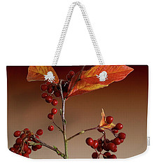Weekender Tote Bag featuring the photograph Autumn Leafs And Red Berries by David French
