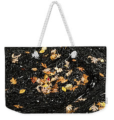 Autumn Leaves Abstract Weekender Tote Bag