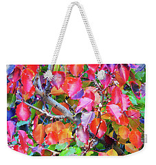 Autumn Leaves And Buds Weekender Tote Bag by Mark Blauhoefer