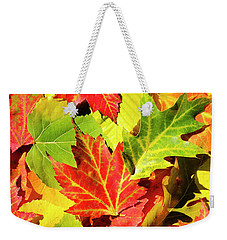 Weekender Tote Bag featuring the photograph Autumn Leaves by Christina Rollo