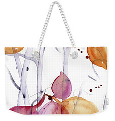 Weekender Tote Bag featuring the painting Autumn Leaves by Dawn Derman