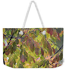 Weekender Tote Bag featuring the photograph Autumn Leaves by Doris Potter