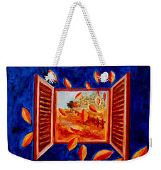 Autumn Leaves Inside Weekender Tote Bag