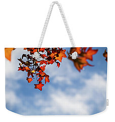 Weekender Tote Bag featuring the photograph Autumn Leaves  by Jingjits Photography