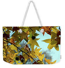 Weekender Tote Bag featuring the photograph Autumn Leaves by Joanne Coyle