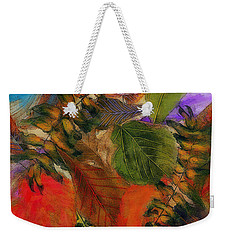 Weekender Tote Bag featuring the digital art Autumn Leaves by Klara Acel