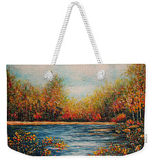 Autumn Leaves Weekender Tote Bag by Natalie Holland