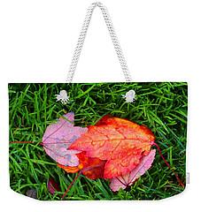 Autumn Leaves On Lawn Weekender Tote Bag