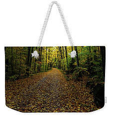 Weekender Tote Bag featuring the photograph Autumn Leaves On The Trail by David Patterson
