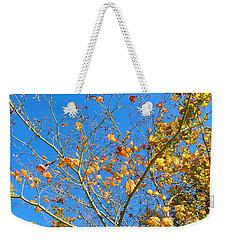 Autumn Leaves On Trees Weekender Tote Bag