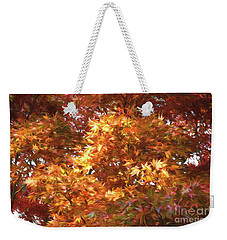 Autumn Leaves Painted Weekender Tote Bag