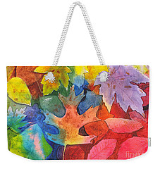 Autumn Leaves Recycled Weekender Tote Bag