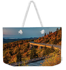 Morning Sun Light - Autumn Linn Cove Viaduct Fall Foliage Weekender Tote Bag