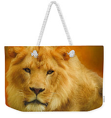 Autumn Lion Weekender Tote Bag