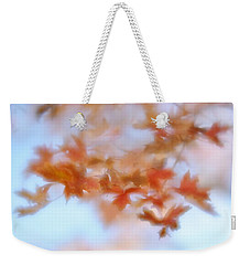 Autumn Maple Leaves Soft Weekender Tote Bag