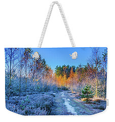 Autumn Meets Winter Weekender Tote Bag