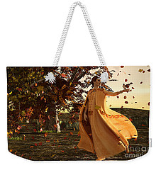 Weekender Tote Bag featuring the digital art Autumn by Methune Hively