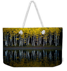 Weekender Tote Bag featuring the photograph Autumn Mirror by Dustin  LeFevre