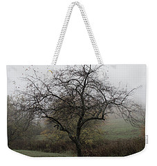 Weekender Tote Bag featuring the photograph Autumn Mist by Michael Friedman