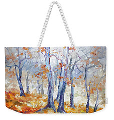 Autumn Mist - Morning Weekender Tote Bag by Irek Szelag