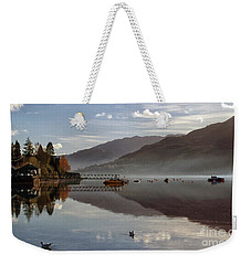 Autumn Mist On Loch Goil Argyll Weekender Tote Bag by Lynn Bolt