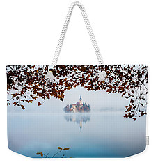 Autumn Mist Over Lake Bled Weekender Tote Bag