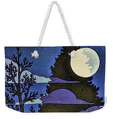 Autumn Moon Weekender Tote Bag