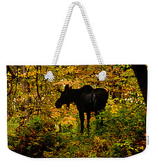 Autumn Moose Weekender Tote Bag