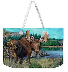 Autumn Moose Weekender Tote Bag