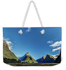 Weekender Tote Bag featuring the photograph Autumn Morning Milford Sound by Gary Eason