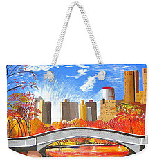 Autumn Oasis Weekender Tote Bag by Donna Blossom