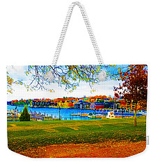 Autumn On Lake Charlevoix Weekender Tote Bag