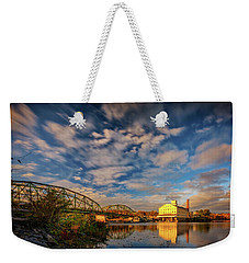 Weekender Tote Bag featuring the photograph Autumn On The Androscoggin River by Rick Berk