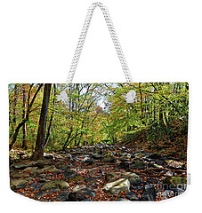 Autumn On The Clifty Creek Weekender Tote Bag by Paul Mashburn