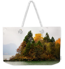 Autumn On The Columbia Weekender Tote Bag by Albert Seger