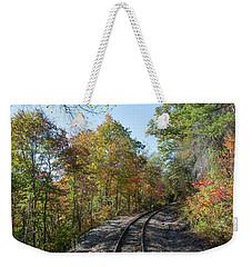 Autumn On The Hiawassee Rails Weekender Tote Bag by John Black